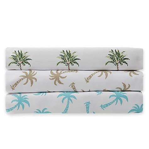 Palm Tree Bed Set Panama 174 300 Thread Count Palm Tree Sheet Set Www Bedbathandbeyond