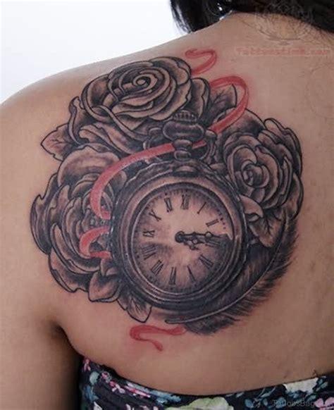 tattoo flower clock 50 top class clock tattoos for back