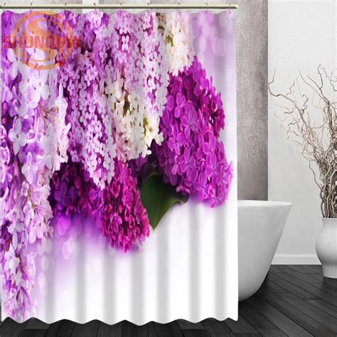 lilac shower curtains aliexpress com buy lilac flowers shower curtain eco