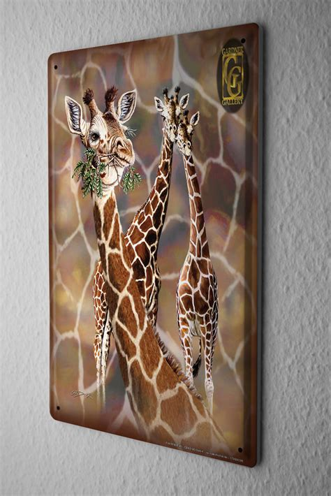 tin sign wall decor giraffe zoo africa ebay
