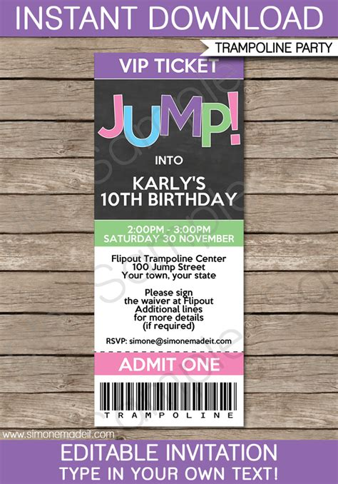 ticket birthday invitation template troline birthday ticket invitations