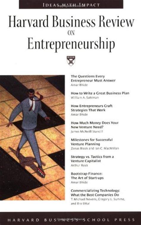 Harvard Mba Entrepreneurship by Harvard Business Journal
