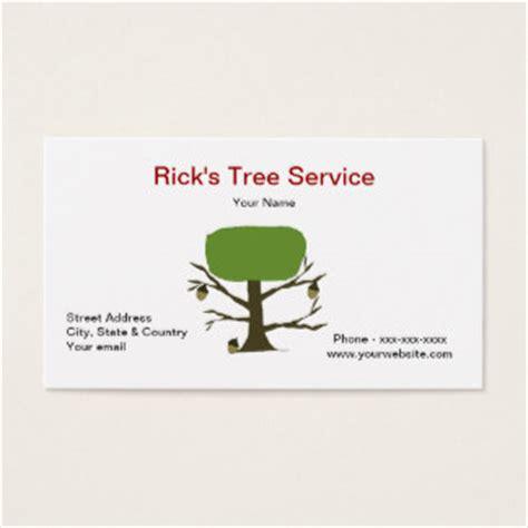 Tree Service Business Card Template by Tree Service Business Cards Business Card Printing
