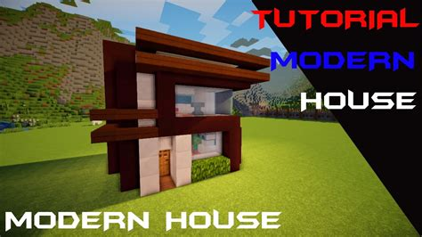 membuat rumah di minecraft minecraft tutorial cara membuat rumah kecil modern 3