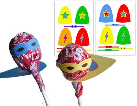 lollipop cape mask printables vintage