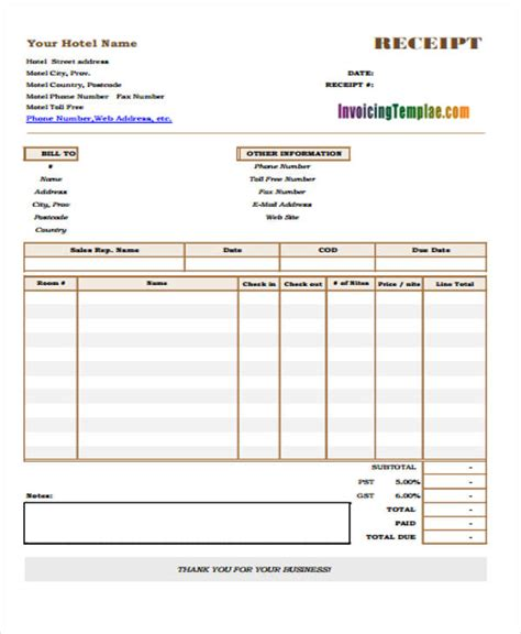 accommodation invoice template 28 images hotel invoice