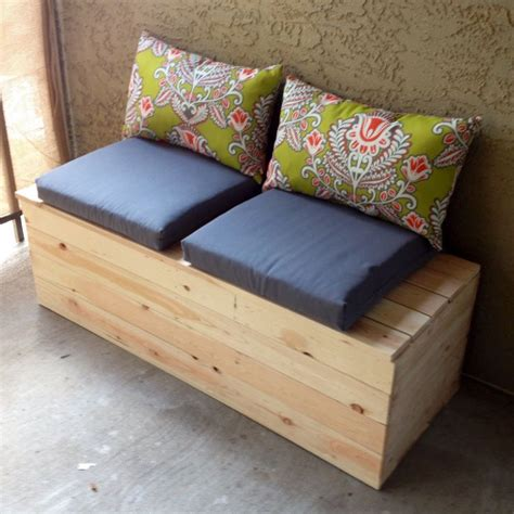 homemade storage bench diy storage bench for the balcony garden pinterest