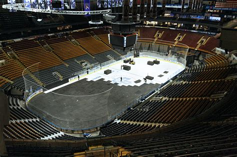 Wells Fargo Floor Plan From Ice Rink To Basketball Court At The Acc