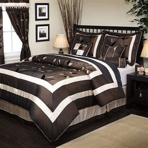 black and brown king comforter sets luxurious 7 piece comforter set king size premium quality