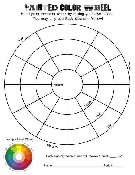 color theory worksheets mrs catlin s art blog