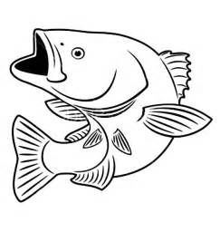 Bass Fish Coloring Pages bass fish outline coloring page coloring pages