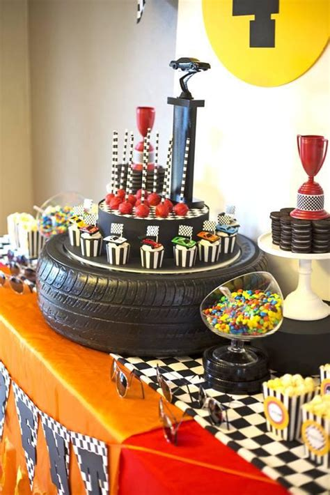 cars themed birthday ideas a rad race car themed 4th birthday party spaceships and