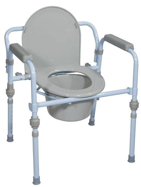 Toilet Seat Commode by Folding Bedside Commode With And Splash Guard