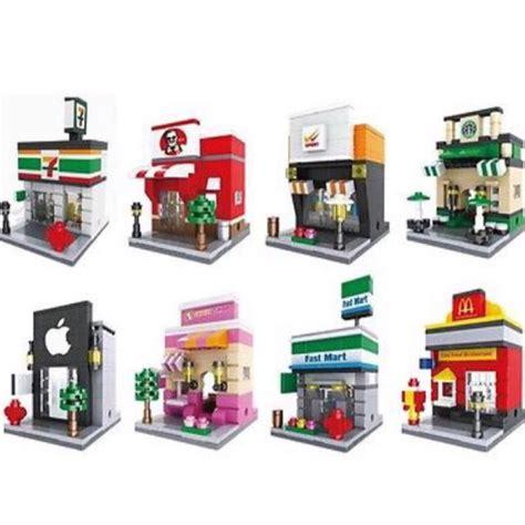 Lego Sembo 6507 Pet Shop hsanhe mini shops building blocks set of 8