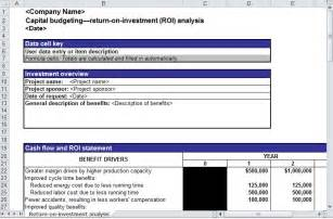 Roi Document Template by Search Results For Calendar Template In Excel