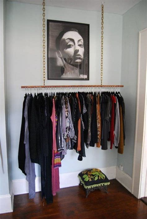 real small space closet solutions how to hang your clothes out in the open without it looking
