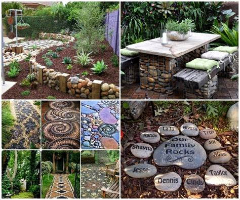 home decor stones 12 ideas to decorate your garden with rocks and stones