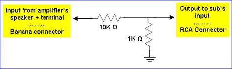 resistor divider audio jl audio fathom f112 subwoofers 10 audio