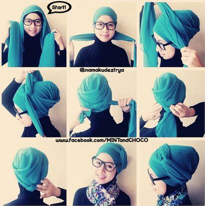 tutorial hijab turban ala artis kreasi jilbab turban segi empat untuk pesta ala dian pelangi