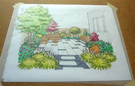 tips from a landscape designer garden perspective drawing