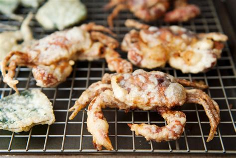 Cooling Crab soft shell crab spider roll recipe use real butter