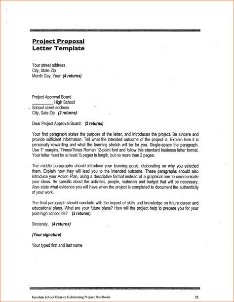 5 make a proposal for a project project proposal