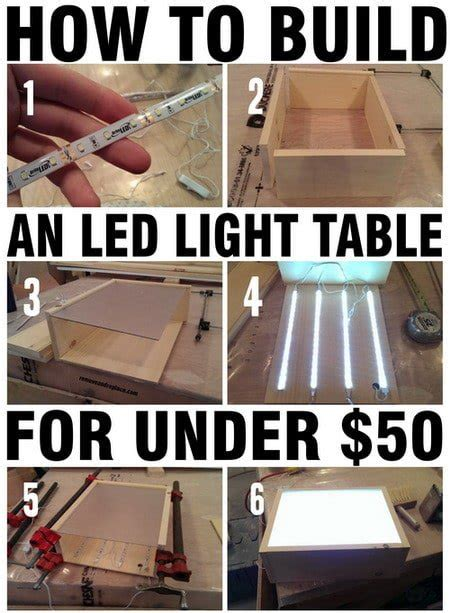 how to build an led light table with wood led strips us2