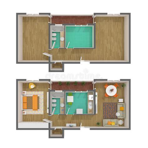 floor plan 3d free download 3d floor plan top view stock illustration image of