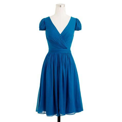 Dress Mirabelle j crew mirabelle dress in silk chiffon in blue lyst