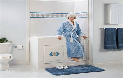 bathtub for seniors walk in walk in tub for seniors couple helps seniors with tub conversions bathtubs idea home