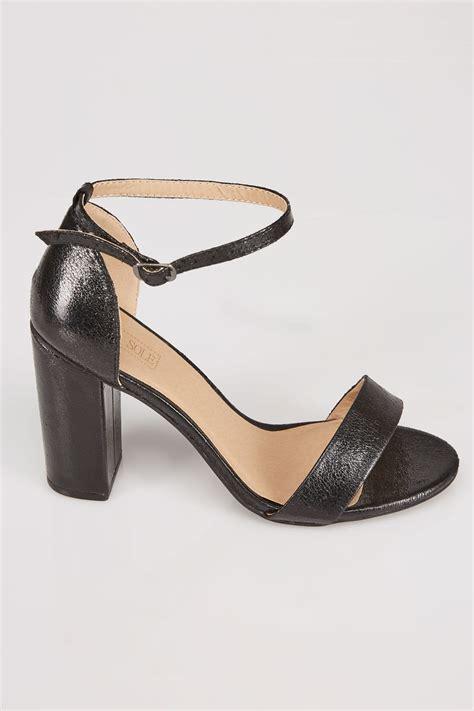 comfort block black comfort insole block heel mary sandal in e fit