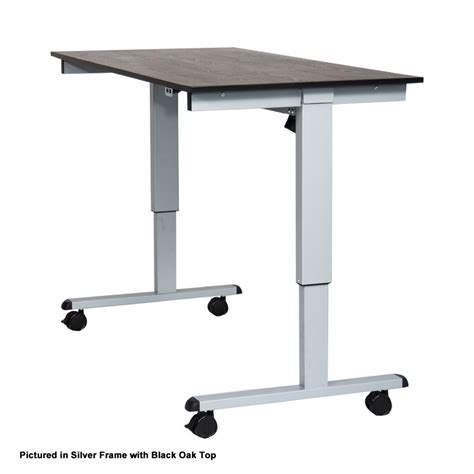 luxor 48 electric standing desk luxor stande 48 bk dw 48 electric standing desk black