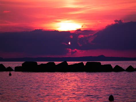 Pink Combination pink sea sunset by unilabs on deviantart