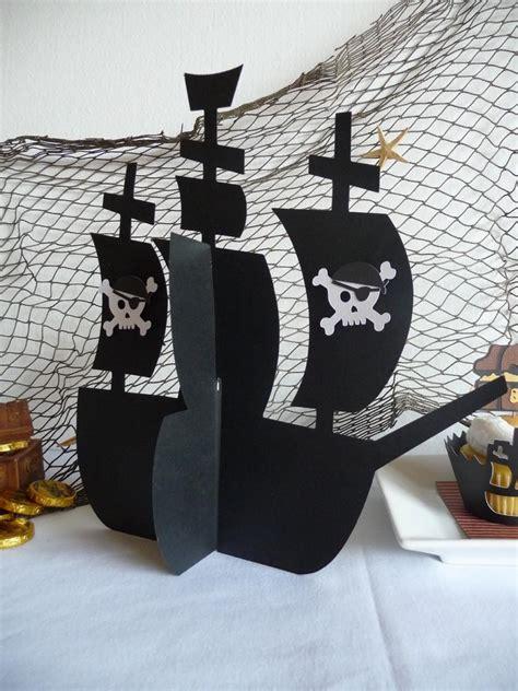 pirate ship centerpiece 3d skull crossbones pirate