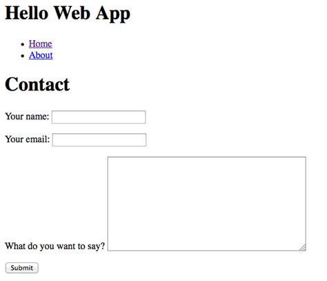tutorial how to set up a contact form with django hello