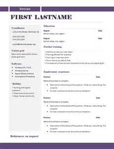 free cv templates 289 to 295 free cv template dot org
