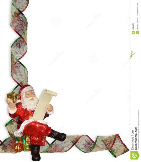 christmas border ribbons sants stock image image 6640431