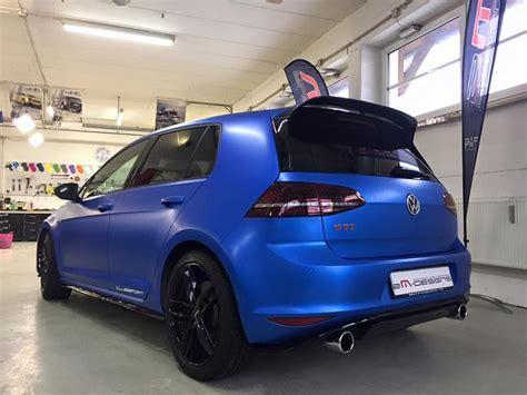 Folie Lapiz Blau by Blau Matt Metallic Vw Golf Gti Clubsport Folierung Tuning
