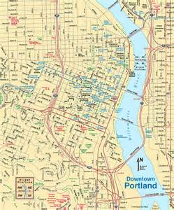 portland on map of oregon map of portland oregon
