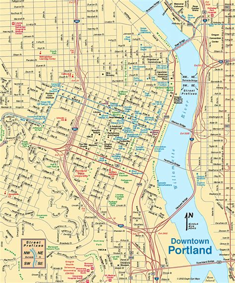 walking map of downtown portland oregon map of portland oregon vacations travel map