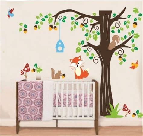 Wandtattoo Kinderzimmer Waldtiere wandaufkleber waldtiere kinderzimmer wandaufkleber de