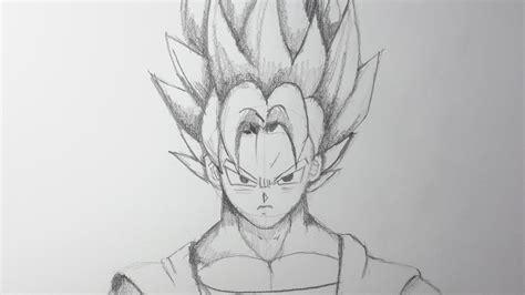 imagenes a lapiz faciles de goku como dibujar a goku ssj paso a paso el dibujante youtube