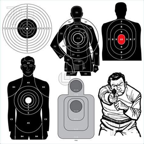 printable shooting targets uk shooting shooting targets and target on pinterest