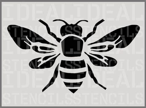 Ideal Home Decorating bumble bee insect home decor stencil ideal stencils