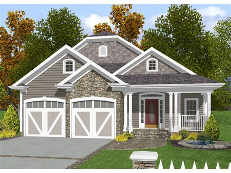 House Plans Waterfront narrow lot house plans front garage cottage house plans