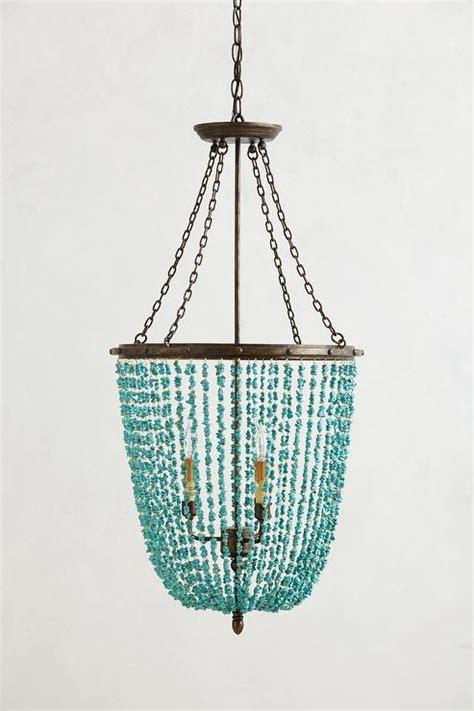 turquoise beaded rivulets chandelier