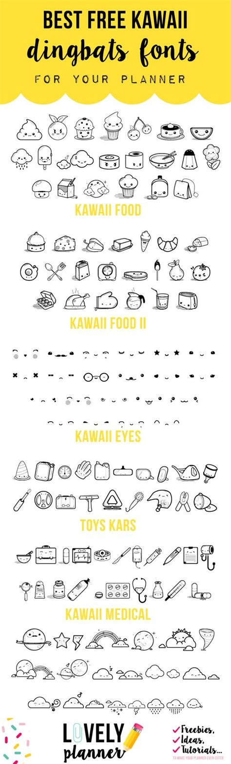 free doodle dingbat fonts free dingbats fonts to create kawaii stickers for your