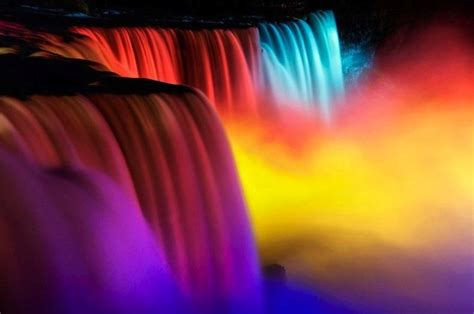 niagara falls lights niagara falls stunning festival of rainbow lights my