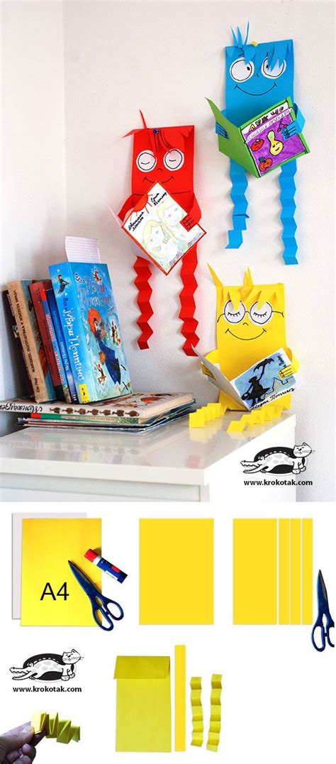 libro arts crafts 1 reading creatures great craft project for library and students could pick their favorite book