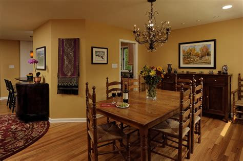 Kitchen And Dining Room Colors by Kitchen And Dining Room Colors With Traditional Ladderback